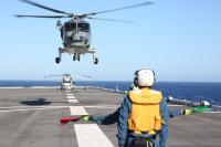 ニュース画像:海自、インド洋でドイツ海軍「バイエルン」と共同訓練