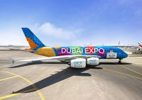 ニュース画像:エミレーツ航空A380、左右デザイン異なるドバイ万博の新塗装機が登場