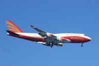 ニュース画像:元JAL・現ナショナル・エアラインズの747特別塗装機、日本初飛来