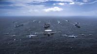 ニュース画像:ベンガル湾で航空勢力も運用した日米豪英の共同訓練 海自「かが」参加