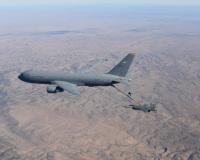 ニュース画像:空自も導入する空中給油機KC-46Aペガサス、F-15とF-16への給油認可