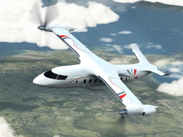 ニュース画像 1枚目:低排出ガス、低騒音を目指すアグスタ・ウエストランドの次世代民間ティルトローター機のイメージ