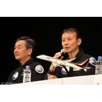 ニュース画像 3枚目:テストパイロットを務めた、安村機長と戸田副操縦士