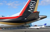 ニュース画像:JAXAの飛翔、MRJの初飛行に協力