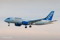 ニュース画像:ボンバルディア、CS100の飛行試験を完了