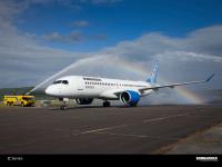 ニュース画像:エア・バルティック、本拠地のリガでCS100を歓迎 CS300導入前に