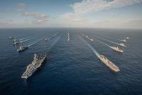 ニュース画像:海自と米海軍、11月25日まで共同訓練 ロナルドレーガン、いずもが参加