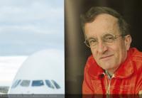 ニュース画像 2枚目:ジャック・ローゼイさんとA380