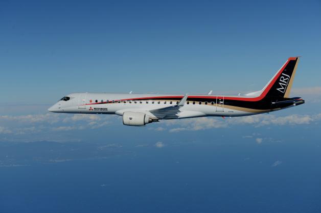 ニュース画像 1枚目:3回目の試験飛行、巡航中のMRJの様子