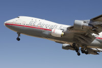 ニュース画像 1枚目:テスト飛行したGEの「N747GE」 搭載エンジンはLEAP