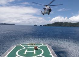 ニュース画像 1枚目:海上保安庁、あきつしまをパラオに派遣