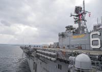 ニュース画像:アメリカ海軍強襲揚陸艦ボノム・リシャールが佐世保を出港