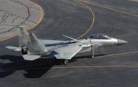 ニュース画像:スーパーボウルを空から守るF-15イーグル