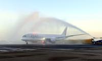 ニュース画像 1枚目:バーミンガムに到着したカタール航空の787