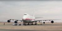 ニュース画像 1枚目:GEの747に搭載したGE Passport 20 ターボファンエンジン、GE AviationのYoutubeから