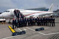 ニュース画像:シティジェット、ユーロ2016出場のアイルランド代表をSSJ-100で輸送