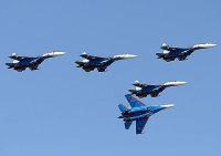 ニュース画像:ロシア空軍ロシアン・ナイツのSu-27、モスクワ近郊で墜落