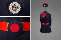 ニュース画像:サンフランシスコ空港、客室乗務員の制服 85年間の歴史を展示