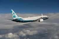 ニュース画像:ボーイング、737 MAX 8をファンボローで展示飛行 【動画】