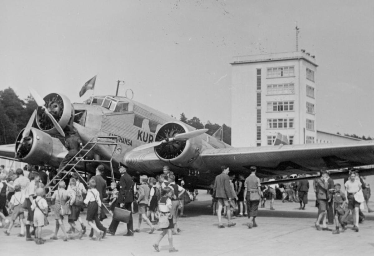 フランクフルト国際空港、開港から80周年 ユンカースJu52/3mが初着陸