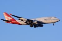 ニュース画像:カンタス747-400初号機、コクピットから見たラストフライト【動画】