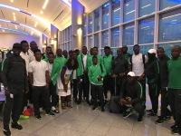 ニュース画像 1枚目:アトランタを出発するナイジェリアの男子サッカーチーム