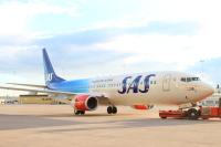 ニュース画像:スカンジナビア航空、設立70周年の特別塗装機を公開 欧路線で運航