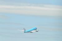 ニュース画像 10枚目:翼を振り、KLMの747が成田に別れを告げた