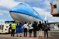 ニュース画像 4枚目:成田でKLMの747が最後の出発