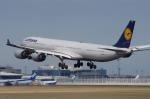 このえさんが、成田国際空港で撮影したルフトハンザドイツ航空 A340-642Xの航空フォト(写真)