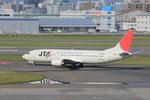 ふじいあきらさんが、福岡空港で撮影した日本トランスオーシャン航空 737-4Q3の航空フォト(飛行機 写真・画像)