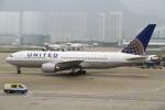 シロクマパパさんが、香港国際空港で撮影したユナイテッド航空 767-224/ERの航空フォト(飛行機 写真・画像)