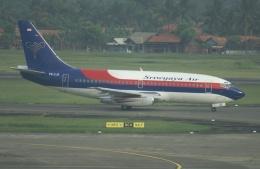 やまっちさんが、スカルノハッタ国際空港で撮影したスリウィジャヤ航空 737-2T4/Advの航空フォト(飛行機 写真・画像)