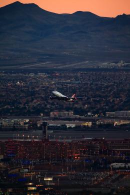 EarthScapeさんが、マッカラン国際空港で撮影したヴァージン・アトランティック航空 747-4Q8の航空フォト(写真)