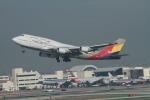 matsuさんが、ロサンゼルス国際空港で撮影したアシアナ航空 747-48Eの航空フォト(飛行機 写真・画像)