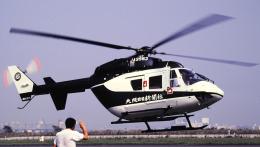 東京ヘリポート - Tokyo Heliport [RJTI]で撮影された大阪日々新聞の航空機写真