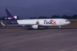 夏奈さんが、鹿児島空港で撮影したフェデックス・エクスプレス MD-11Fの航空フォト(飛行機 写真・画像)
