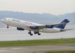 なぁちゃんさんが、関西国際空港で撮影したエジプト航空 A340-212の航空フォト(飛行機 写真・画像)