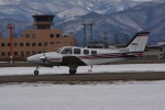 marimariさんが、花巻空港で撮影した航空大学校 Baron G58の航空フォト(飛行機 写真・画像)