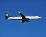 じーく。さんが、トゥールーズ・ブラニャック空港で撮影したルフトハンザ・シティライン ERJ-190-200 LR (ERJ-195LR)の航空フォト(写真)