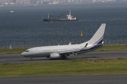 meijeanさんが、羽田空港で撮影したボーイング エアクラフト ホールディング カンパニー 737-7BC BBJの航空フォト(飛行機 写真・画像)