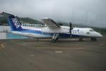 島国旅人さんが、三宅島空港で撮影したエアーニッポンネットワーク DHC-8-314Q Dash 8の航空フォト(写真)