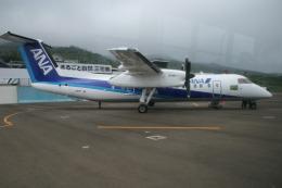 島国旅人さんが、三宅島空港で撮影したエアーニッポンネットワーク DHC-8-314Q Dash 8の航空フォト(飛行機 写真・画像)