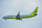 パンダさんが、那覇空港で撮影したジンエアー 737-8Q8の航空フォト(飛行機 写真・画像)