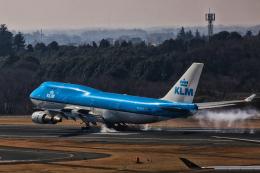 カヤノユウイチさんが、成田国際空港で撮影したKLMオランダ航空 747-406の航空フォト(写真)