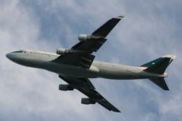 takikoki50000さんが、関西国際空港で撮影したキャセイパシフィック航空 747-412(BCF)の航空フォト(飛行機 写真・画像)