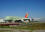 じーく。さんが、トゥールーズ・ブラニャック空港で撮影したアシアナ航空 A380-841の航空フォト(飛行機 写真・画像)