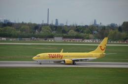 KIXベースのB747さんが、デュッセルドルフ国際空港で撮影したトゥイフライ 737-8K5の航空フォト(飛行機 写真・画像)