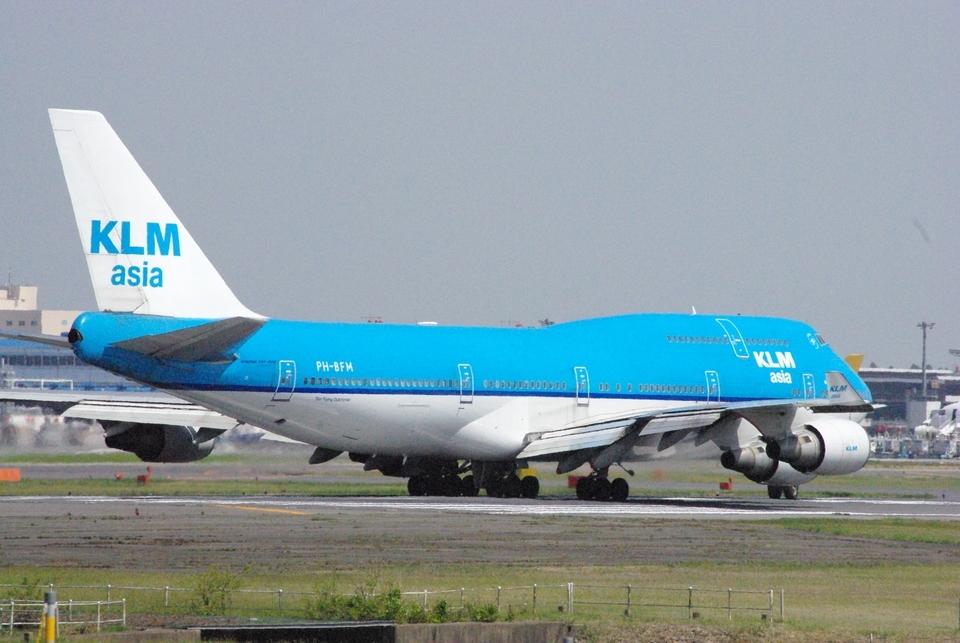 ヒデキチさんのKLMオランダ航空 Boeing 747-400 (PH-BFM) 航空フォト