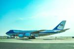 パンダさんが、羽田空港で撮影したアメリカ空軍 VC-25A (747-2G4B)の航空フォト(写真)